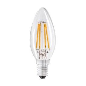Dunelm 4 Watt SES LED Filament Candle Bulb