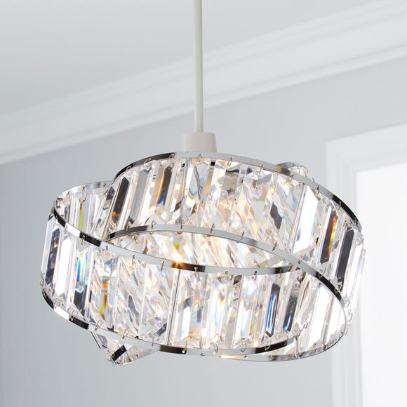 Lilia Acrylic Clear Easy Fit Pendant Clear