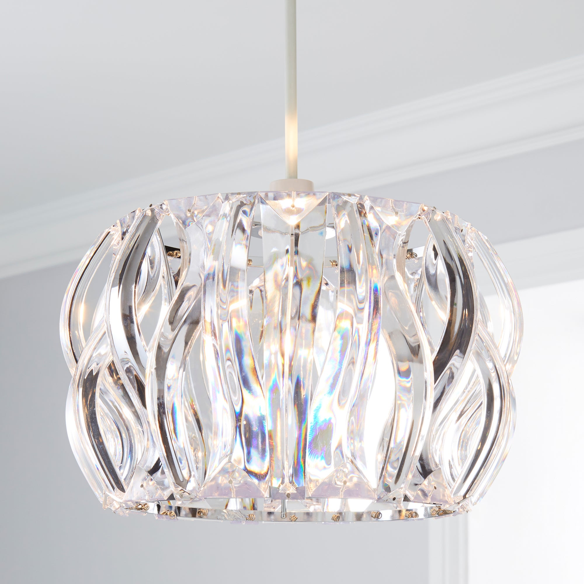 Click to view product details and reviews for Wavy Jewel Easy Fit Pendant Clear.