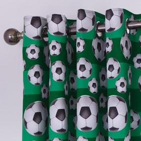 Football Blackout Eyelet Curtains