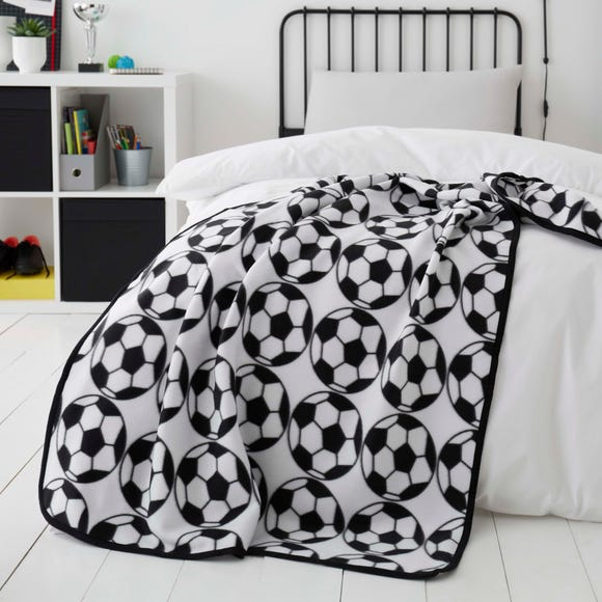 Football Black and White Fleece Black and White