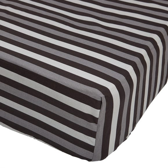 Stars Black 25cm Fitted Sheet  undefined