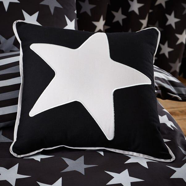 Stars Black Cushion Black