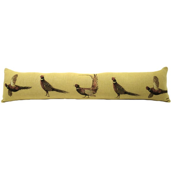 Pheasant Draught Excluder Yellow
