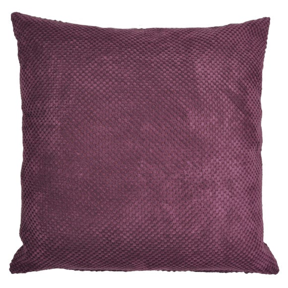 Large Chenille Spot Cushion Mauve (Purple)