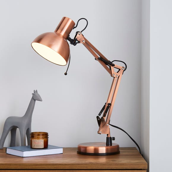 Carlton Adjustable Copper Task Desk Lamp Copper (Brown)