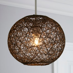 Abaca Ball 24cm Grey Easy Fit Pendant