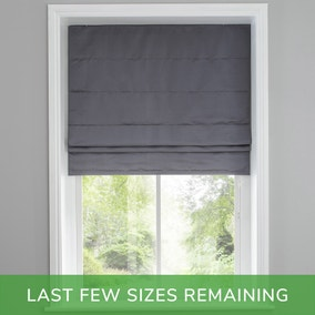 Hotel Venice Graphite Grey 5ft Blackout Roman Blind