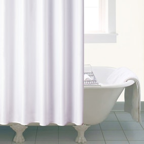 White Ceramic Shower Curtain