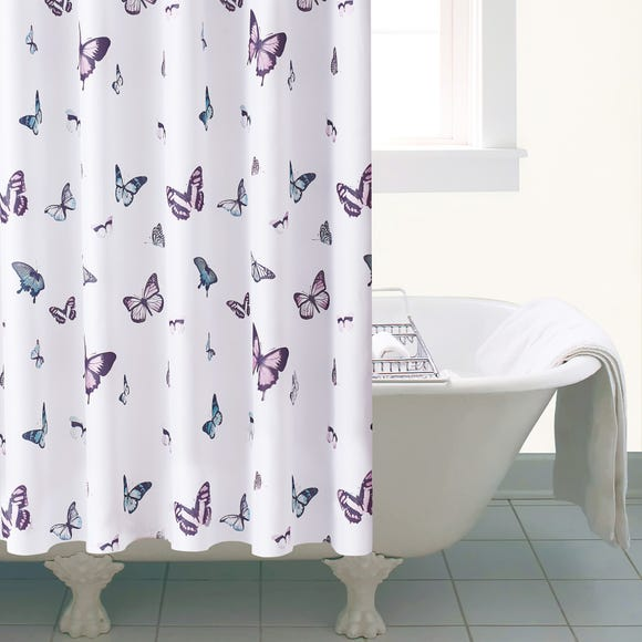 Butterfly Shower Curtain Multi Coloured