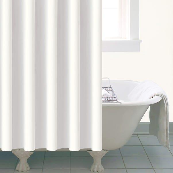 Essentials White Peva Shower Curtain White