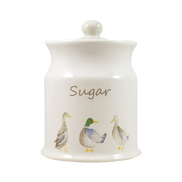 Jenny Sugar Canister White