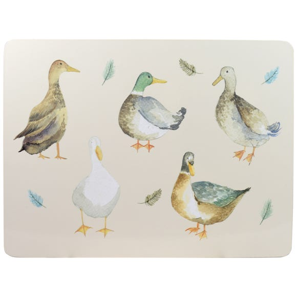 Jenny & Joseph Pack of 4 Placemats White