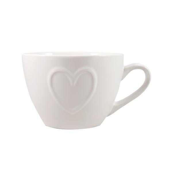 Country Heart Hug Mug Off-White