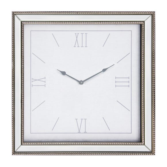 Dorma 44cm Mirrored Wall Clock Silver Silver