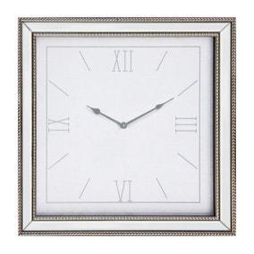 Dorma 44cm Mirrored Wall Clock Silver