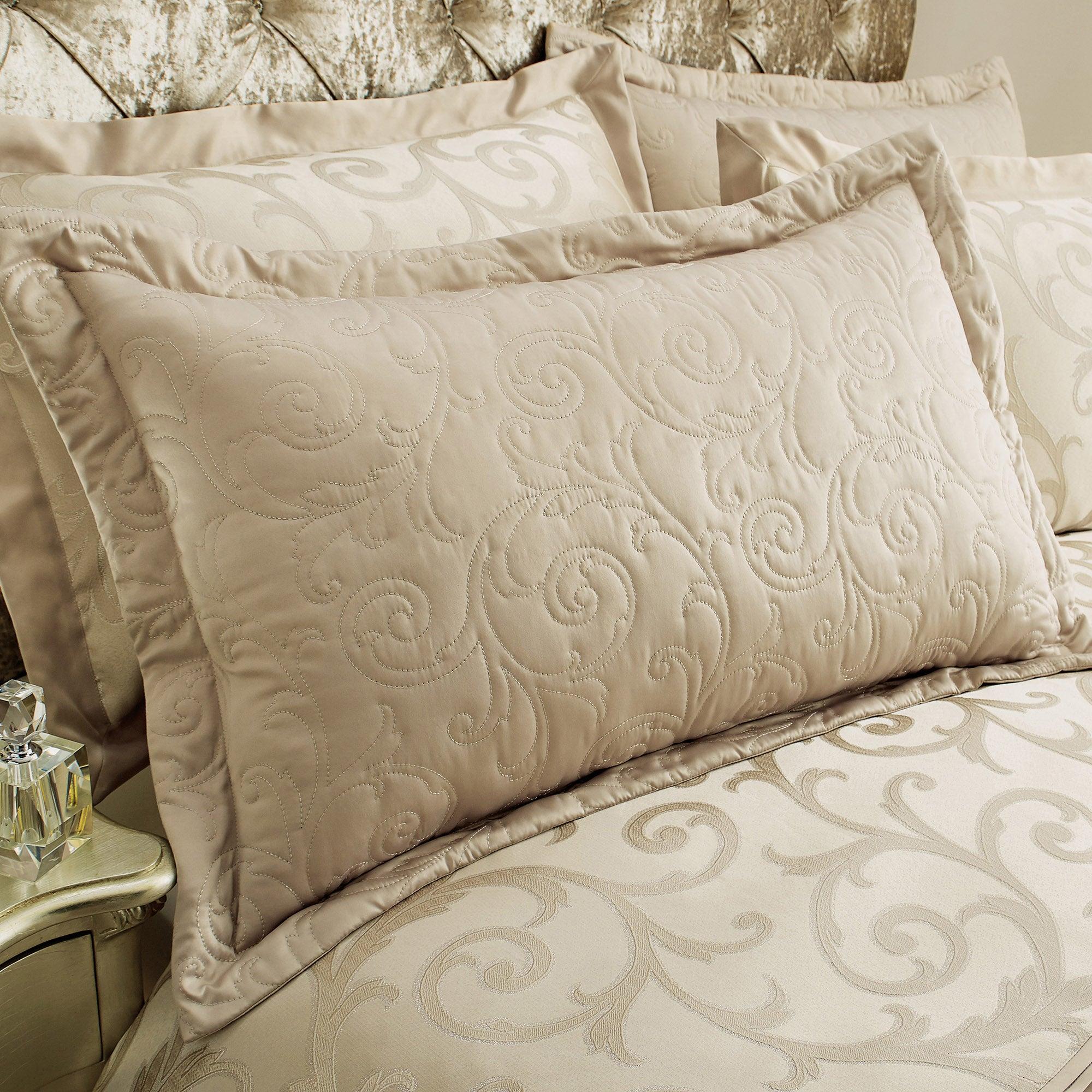 Dunelm Lucia Natural Pillow Sham Natural Brown |