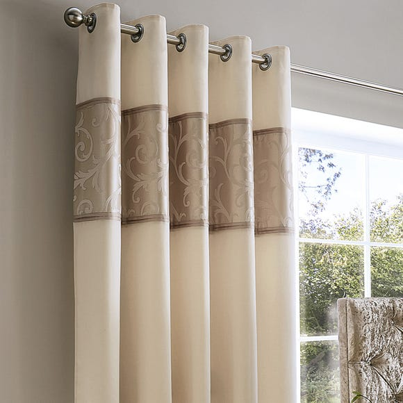 Lucia Natural Thermal Eyelet Curtains Natural undefined