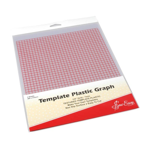Sew Easy Template Plastic Graph Clear