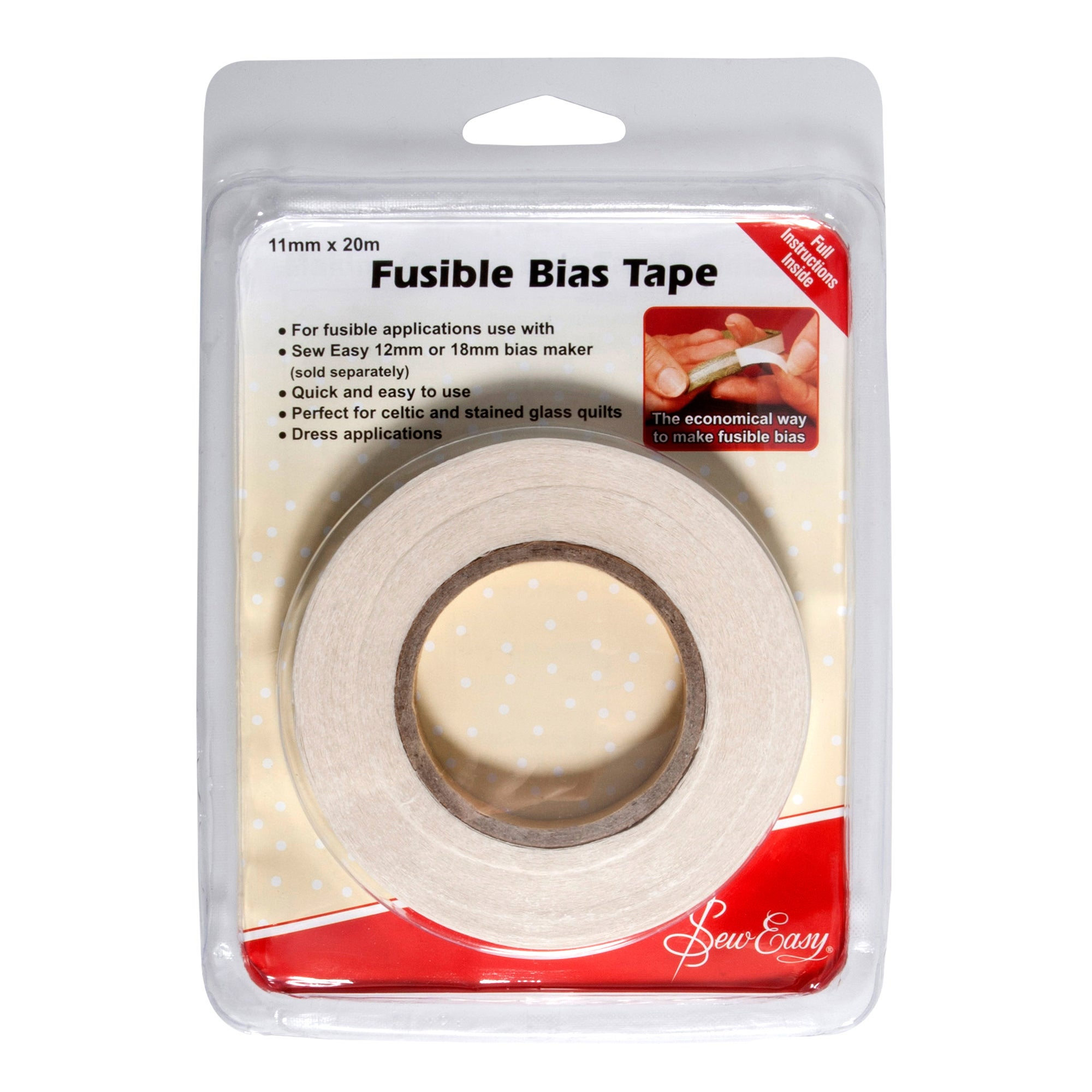 Photo of Sew easy fusible bias tape clear