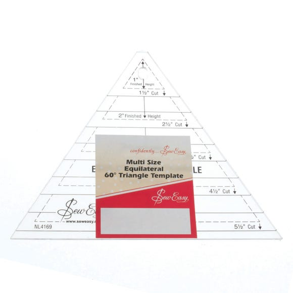 Sew Easy Quilt Triangle Template Clear