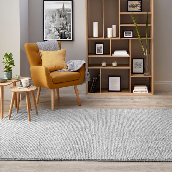 Pebble Wool Rug Pebble Grey undefined