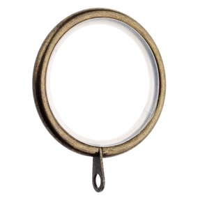 Pack of 6 Lined Metal Curtain Rings Dia. 28mm