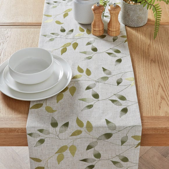 Shadow Leaves Table Runner Green undefined
