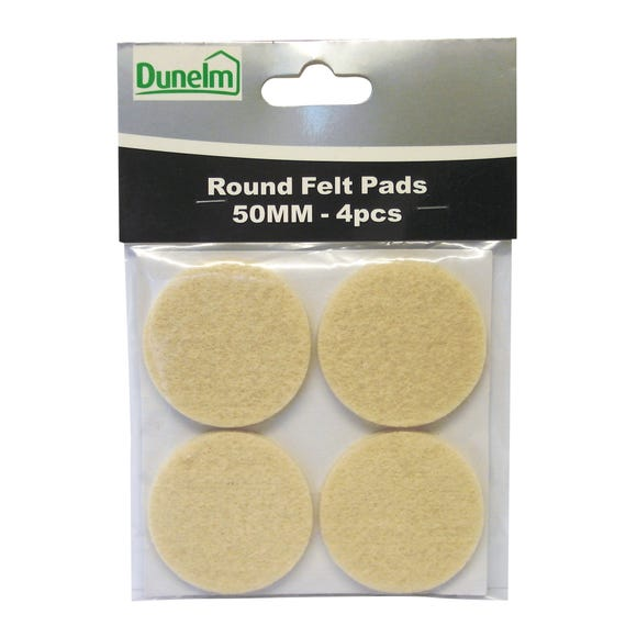 Pack of 4 Felt Pads Natural