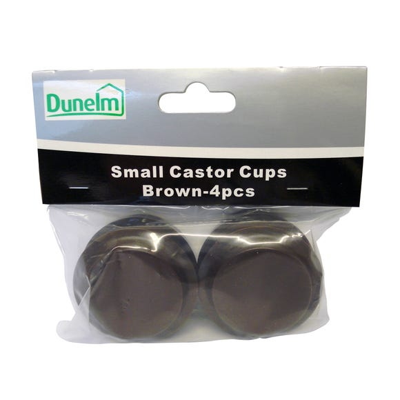Pack of 4 Small Castor Cups Brown