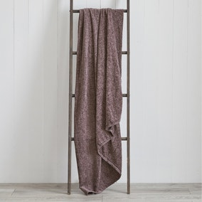 Chenille Mauve Throw