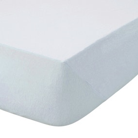 Kids Non Iron Plain Dye Pale Blue 25cm Fitted Sheet