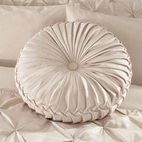 Karissa Champagne Round Cushion