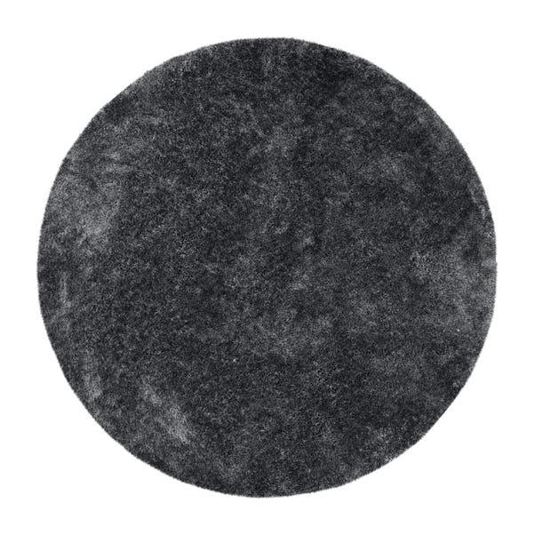 Indulgence Circle Shaggy Rug Indulgence Charcoal undefined