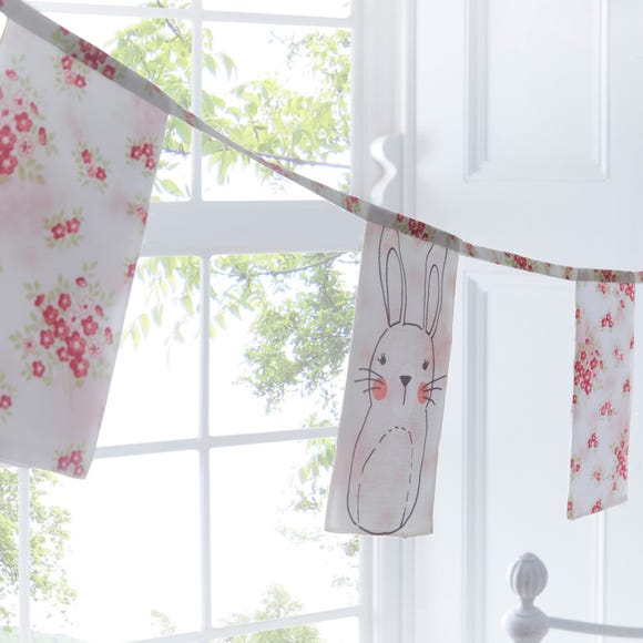 Katy Rabbit Bunting Pink