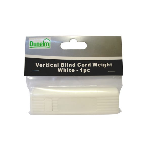Vertical Blind Cord Weight White