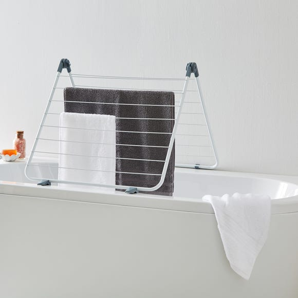 White Over the Bath Airer White