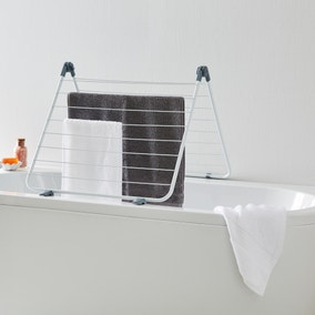 White Over the Bath Airer