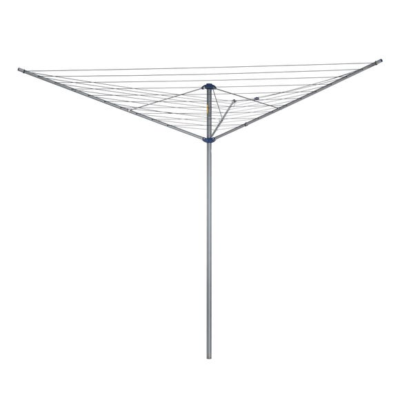 Utility Room 40 Metre 3 Arm Rotary Washing Line Silver (Grey)