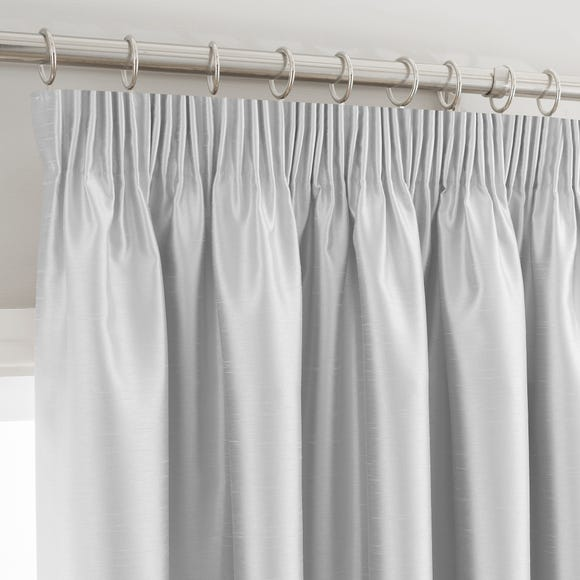 Montana Silver Pencil Pleat Curtains Silver undefined