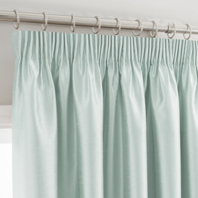 Montana Duck-Egg Pencil Pleat Curtains