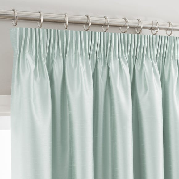 Montana Duck-Egg Pencil Pleat Curtains  undefined