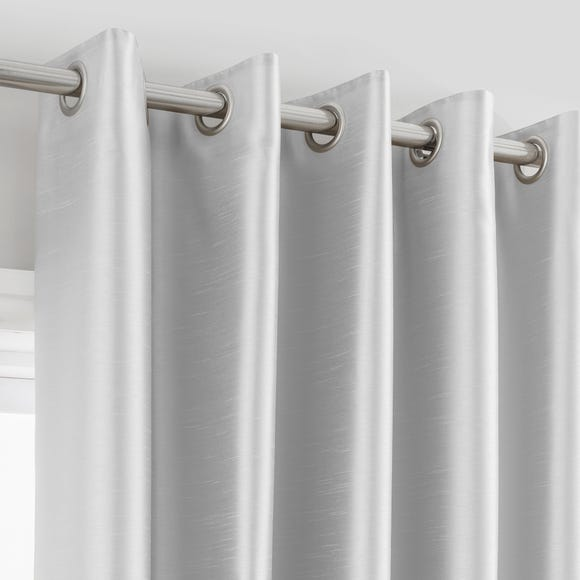 Montana Silver Eyelet Curtains Silver undefined