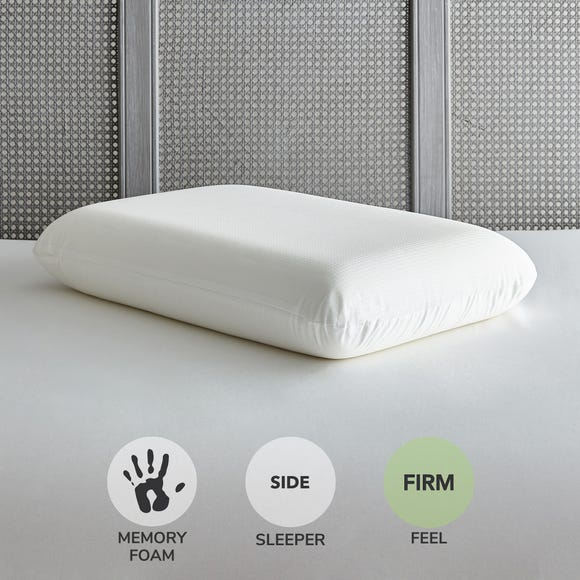Temperature Reactive Memory Foam Firm-Support Pillow White