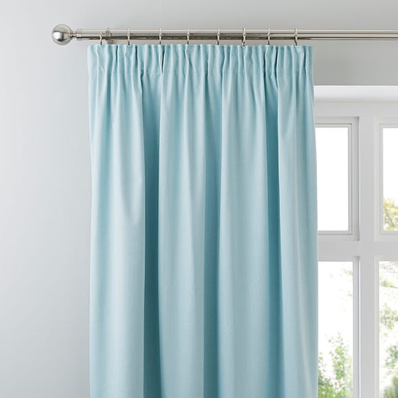 Solar Mint Blackout Pencil Pleat Curtains  undefined