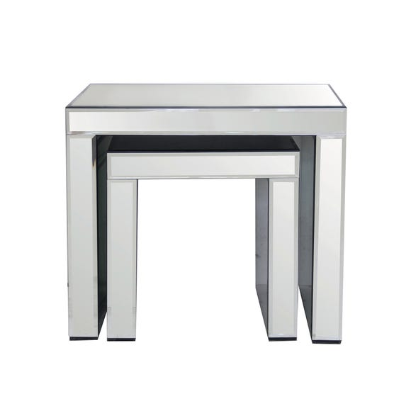 Venetian Mirrored Nest Of Tables Clear