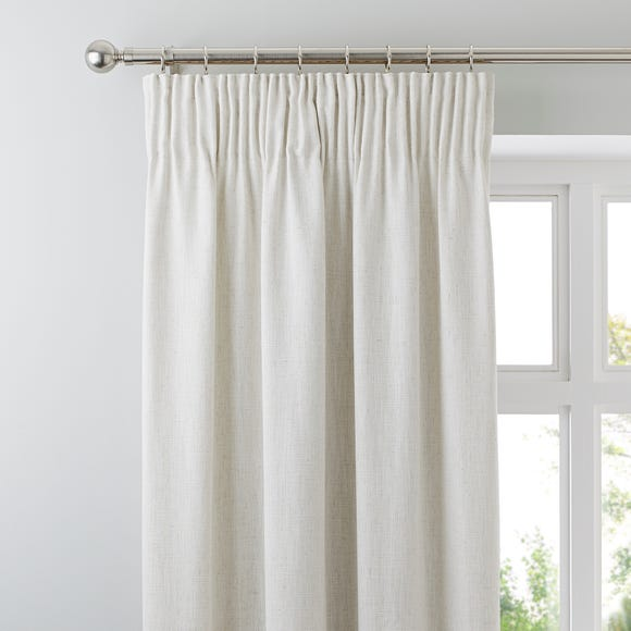 Purity Natural Pencil Pleat Curtains  undefined