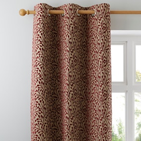 Willow Red Eyelet Curtains