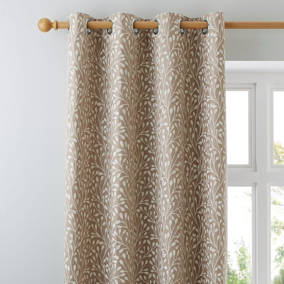 Willow Cream Eyelet Curtains Cream undefined