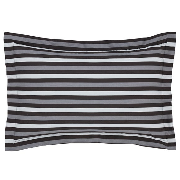 Stars Black Oxford Pillowcase Black
